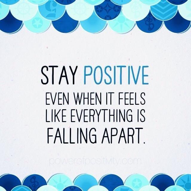 Keeping positive